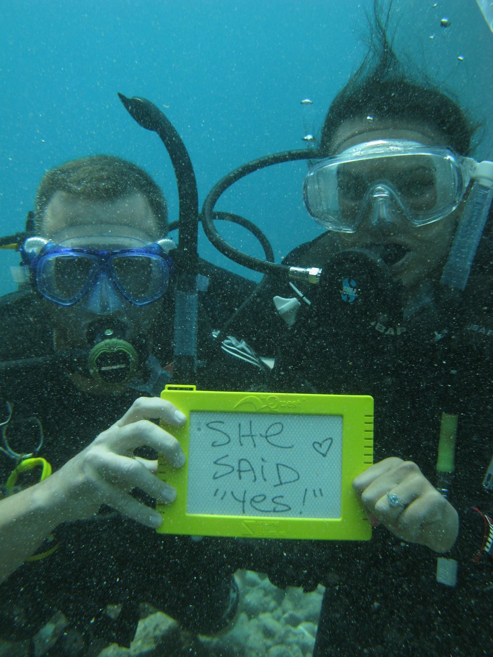 Underwater Marriage Proposals