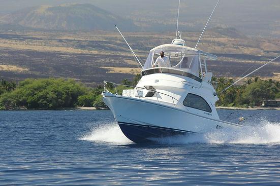 Sportfishing Boat on the Kona Kohala Coast