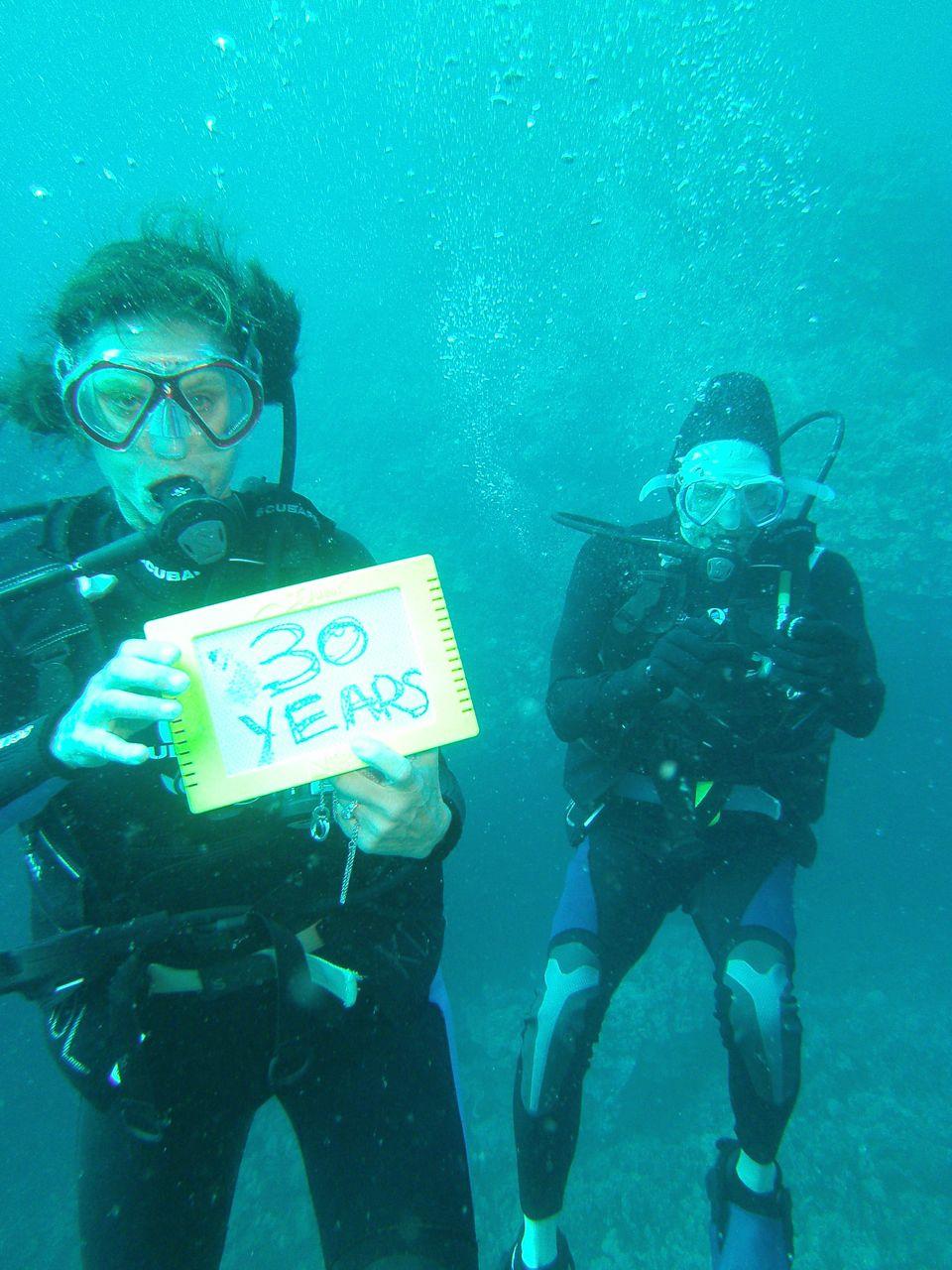 Underwater Vow Renewal