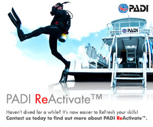 Re-activate your PADI scuba certifications