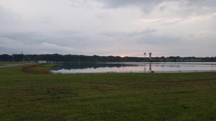 Sunset on Champions Lake