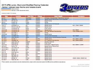 2020 APBA Midwest-East Racing Calendar!