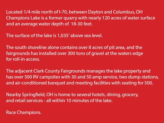 About Champions Lake