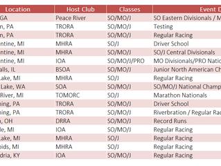 2018 Region 6 Racing Calendar