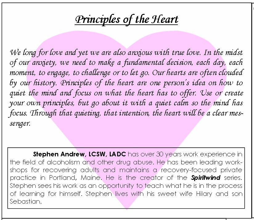 Principles of the Heart - back