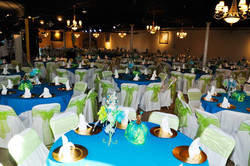 Turquise and green decorations