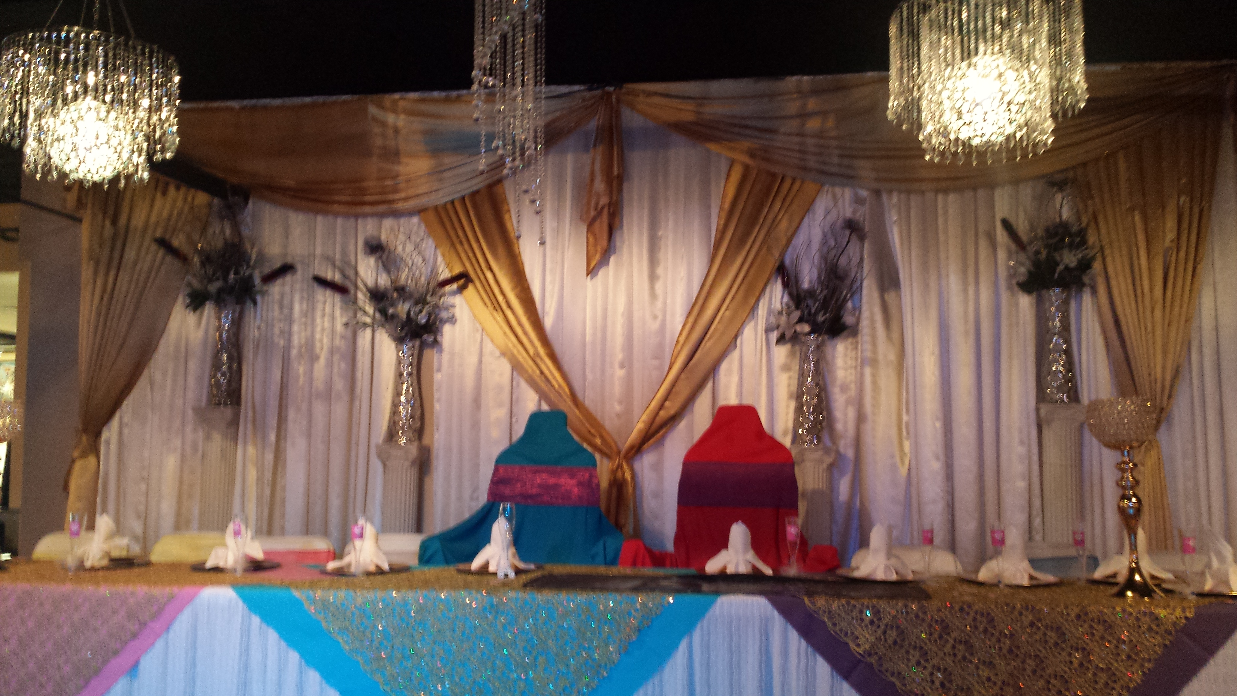 Bride & Groom's wedding party table