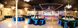 Banquet hall in black & blue