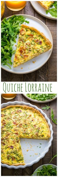 Quiche Lorraine is the pure comfort food! Perfect for brunch, lunch, or dinner.
