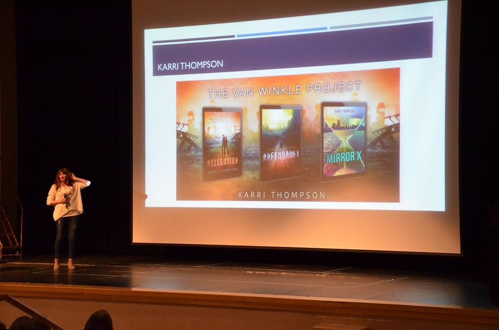 I presented to two groups of creative high school students.