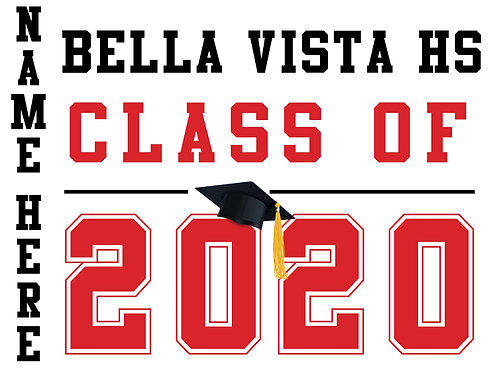 Bella Vista HS - Class of 2020 with name (White)