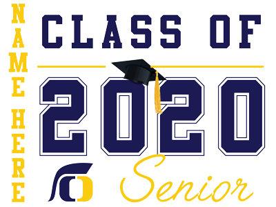 Oak Ridge HS - Senior with name (White)