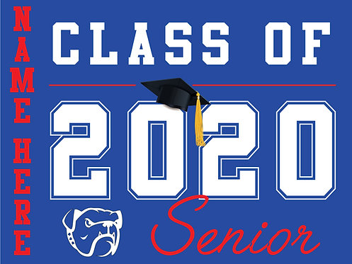 Folsom HS - Senior 2020 with name (Blue)