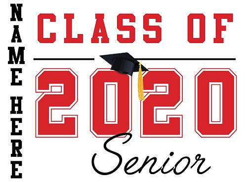 Cordova HS - Senior 2020 with name (White)