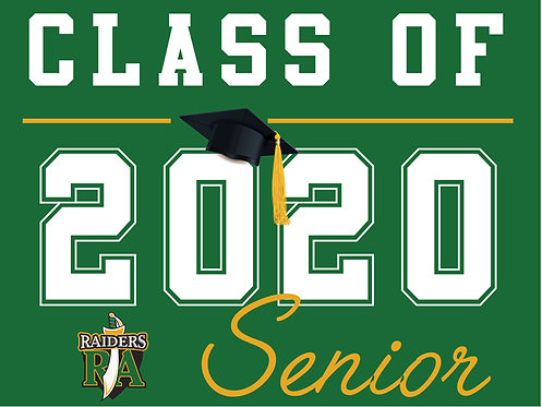 Rio Americano HS - Senior 2020 (Green)