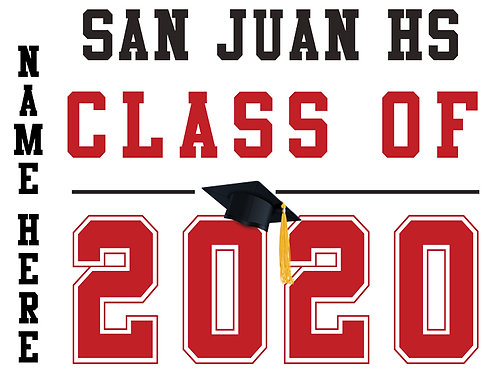 San Juan HS - Class of 2020 with name (White)