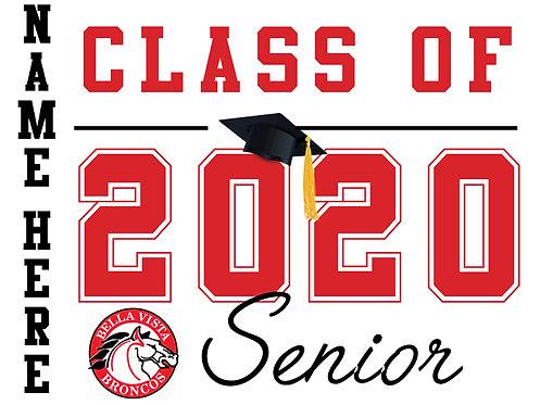 Bella Vista HS - Senior 2020 with name (White)