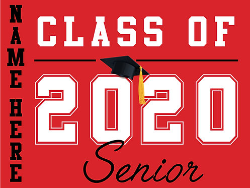 Cordova HS - Senior 2020 with name (Red)