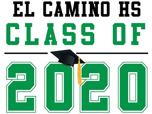 El Camino HS - Class of 2020 (White)