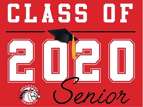 Bella Vista HS - Senior 2020 (Red)