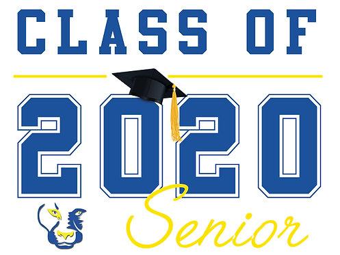 Del Campo HS - Senior 2020 (White)