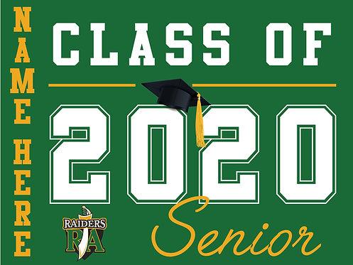 Rio Americano HS - Senior 2020 with name (Green)