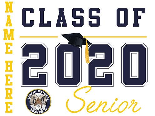 Casa Roble HS - Senior 2020 with name (White)