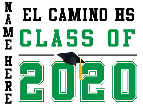 El Camino HS - Class of 2020 with name (White)