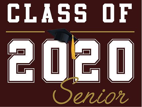 Kinney HS - Senior 2020 (Burgundy)