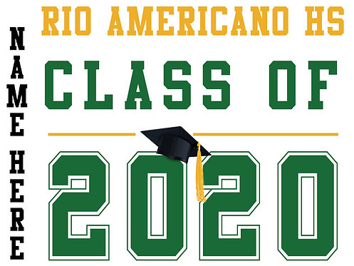 Rio Americano HS - Class of 2020 with name (White)