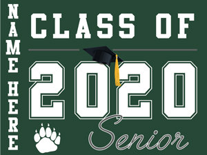 Ponderosa HS - Senior with name (Green)