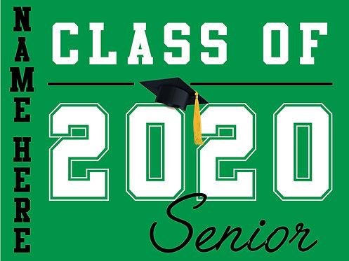El Camino HS - Senior 2020 with name (Green)