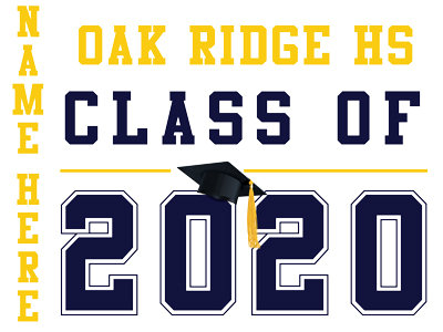 Oak Ridge HS - Class of 2020 with name (White)