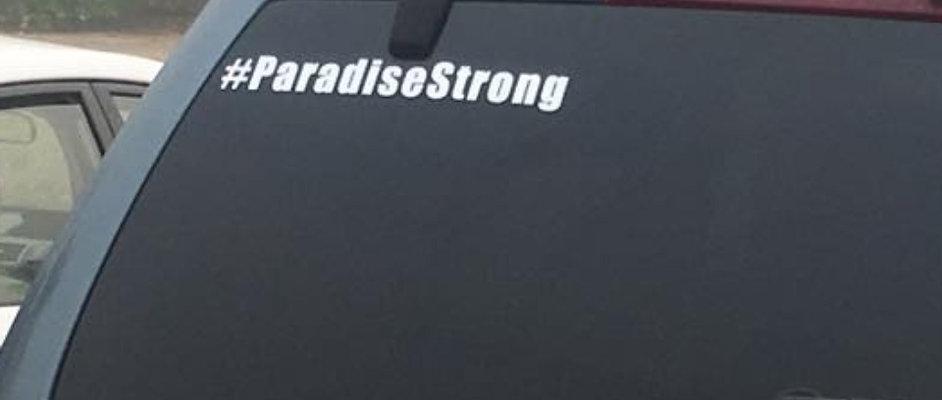 #ParadiseStrong Decal