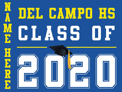 Del Campo HS - Class of 2020 with name (Blue)