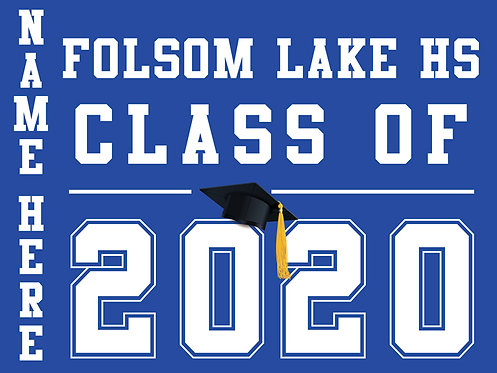 Folsom Lake HS - Class of 2020 (Blue)