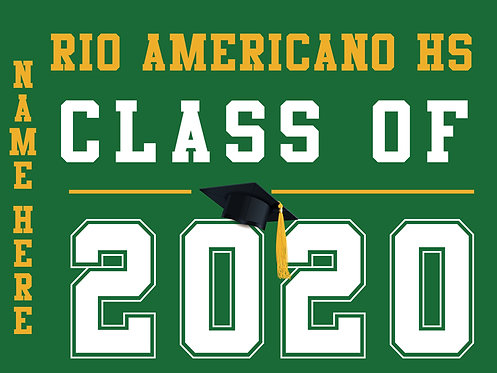 Rio Americano HS - Class of 2020 with name (Green)