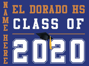 El Dorado HS - Class of 2020 with name (Blue)