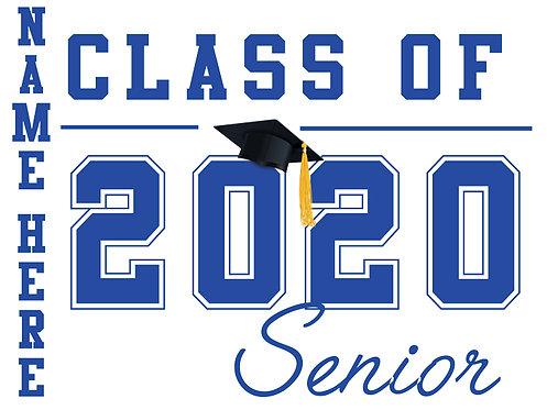 Folsom Lake HS - Senior 2020 with name (White)