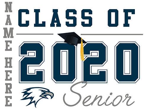 Vista Del Lago HS - Senior 2020 with name (White)