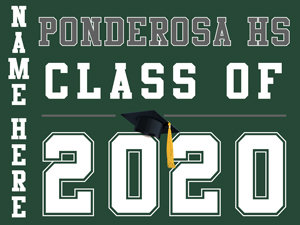 Ponderosa HS - Class of 2020 with name (Green)