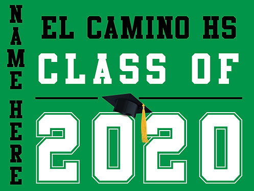 El Camino HS - Class of 2020 with name (Green)