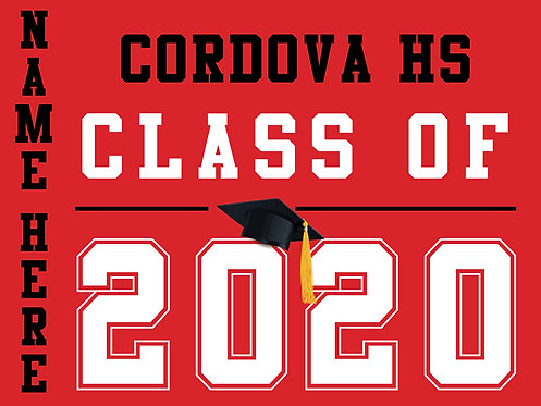 Cordova HS - Class of 2020 with name (Red)