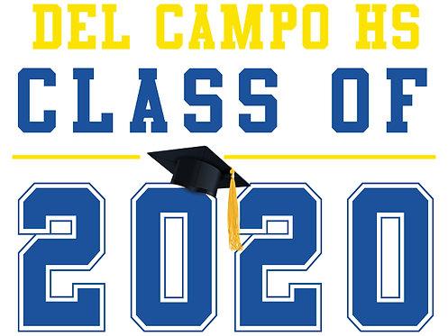 Del Campo HS - Class of 2020 (White)