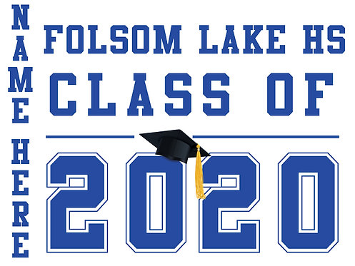 Folsom Lake HS - Class of 2020 (White)