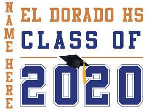 El Dorado HS - Class of 2020 with name (White)