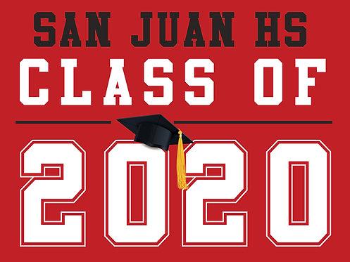 San Juan HS - Class of 2020 (Red)