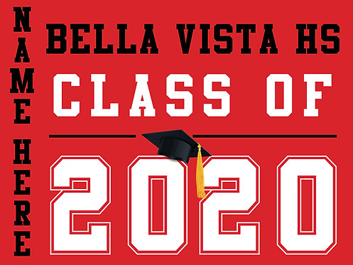 Bella Vista HS - Class of 2020 with name (Red)