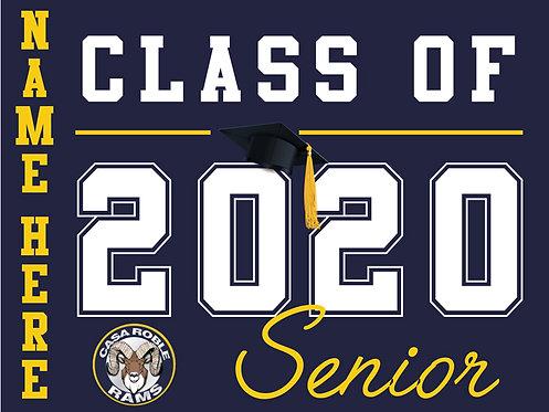 Casa Roble HS - Senior 2020 with name (Blue)