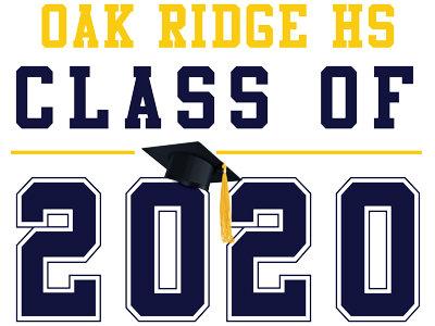 Oak Ridge HS - Class of 2020 (White)